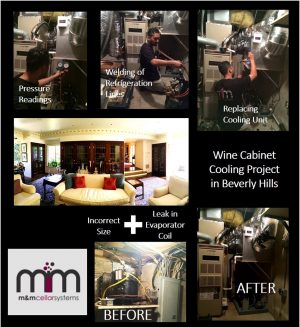Wine Cabinet Cooling Project in Beverly Hills.jpg