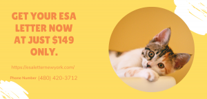 Get your ESA letter now at just $149 only. Special offer for you by ESA Letter New York.png